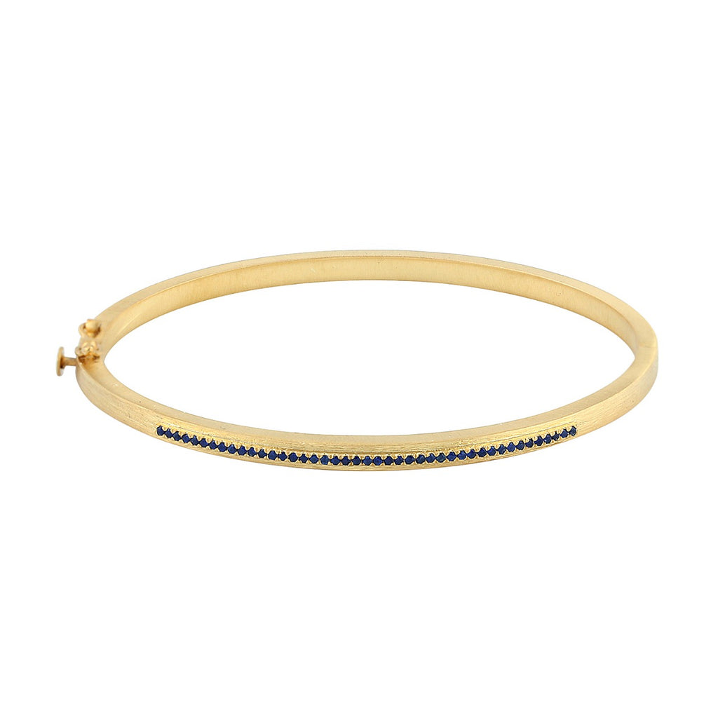 Dainty Bracelet Gold/Silver with Sapphires - Shoshanna Lee