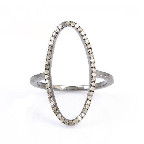 Beloved Oval Ring Sterling Silver-Oxidized