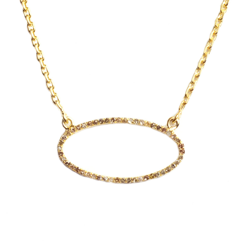 Beloved Oval Necklace Yellow Gold - Shoshanna Lee
