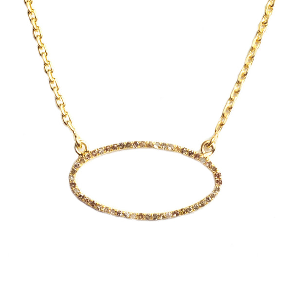 Beloved Oval Necklace Yellow Gold