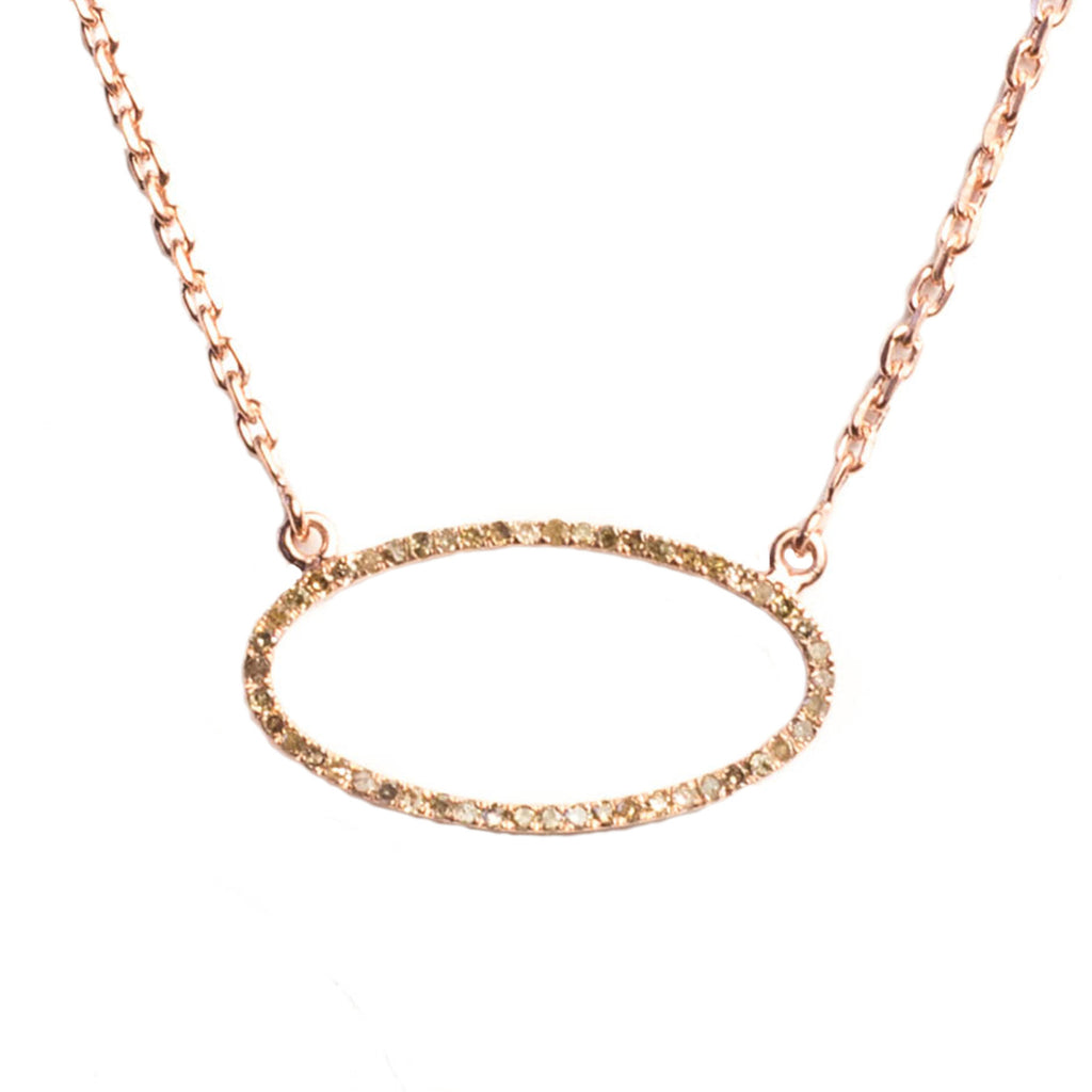Beloved Large Oval Necklace Rose Gold - Shoshanna Lee