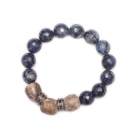 Brooke Blue Jasper w/ Diamond Spacers - Shoshanna Lee