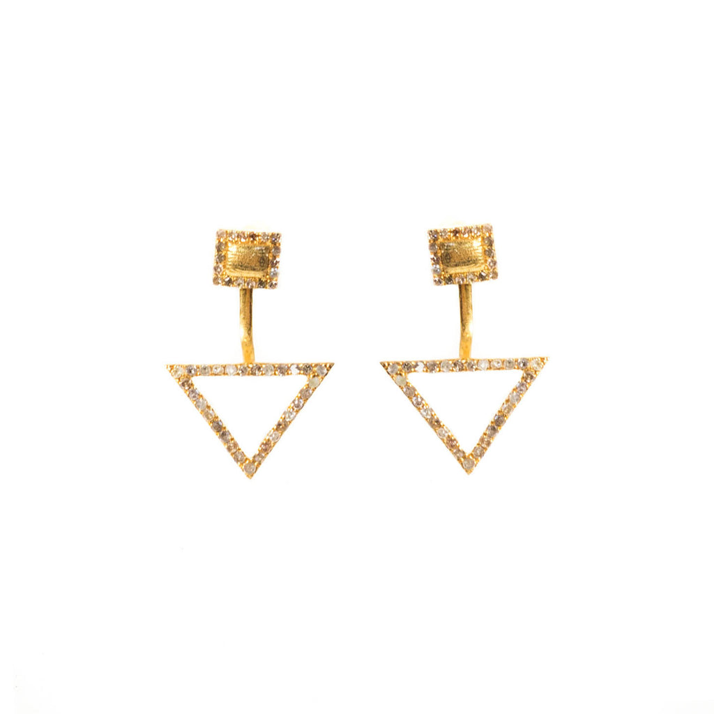 Cherished Diamond Ear Jacket Yellow Gold - Shoshanna Lee
