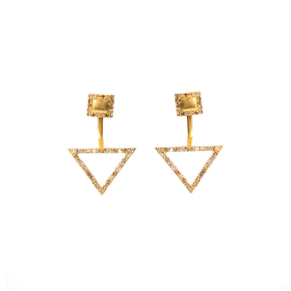 Cherished Diamond Ear Jacket Yellow Gold