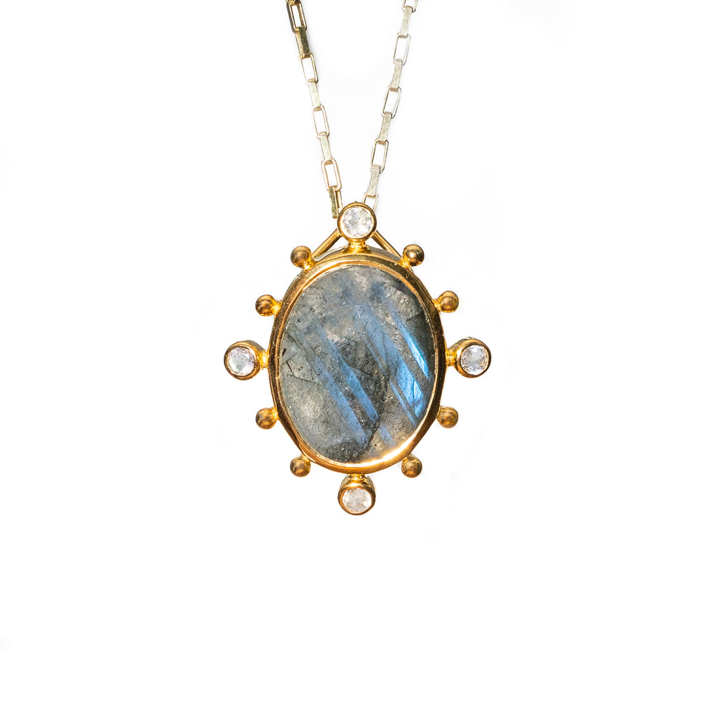 Natural Small Labradorite Pendent - Shoshanna Lee
