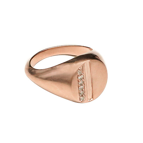 Harmony Signa Ring Rose Gold - Shoshanna Lee