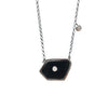 Bahamas Fancy Black Onyx Oxidized Necklace with Diamonds - Shoshanna Lee