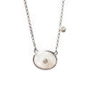 Bahamas Moonstone Oxidized Necklace with Diamonds - Shoshanna Lee