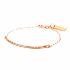 Rose Gold Plated Diamond Bracelet