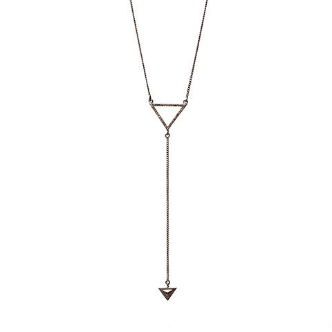 Renee Y Necklace Oxidized Silver - Shoshanna Lee