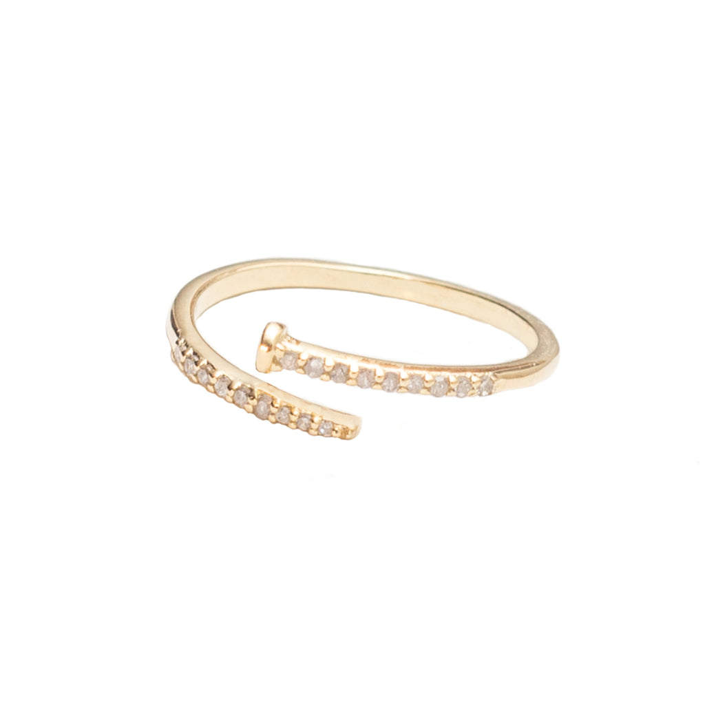 Diamond Nail Ring Gold - Shoshanna Lee