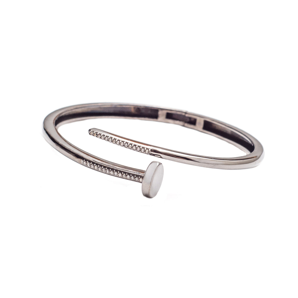 Diamond Nail Bracelet Oxidized Silver - Shoshanna Lee