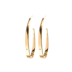 Hoop Earrings Gold with Diamond