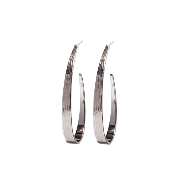 Hoop Earrings Rhodium