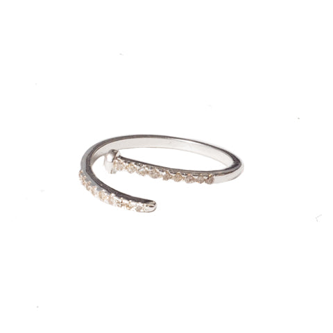 Diamond Nail Ring Silver - Shoshanna Lee