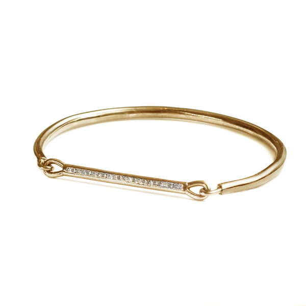 Diamond Bar Bracelet Gold