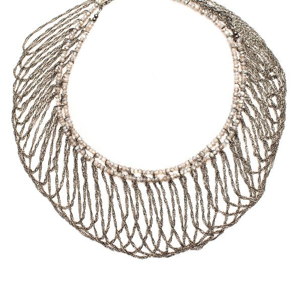 Hanna Necklace Gunmetal