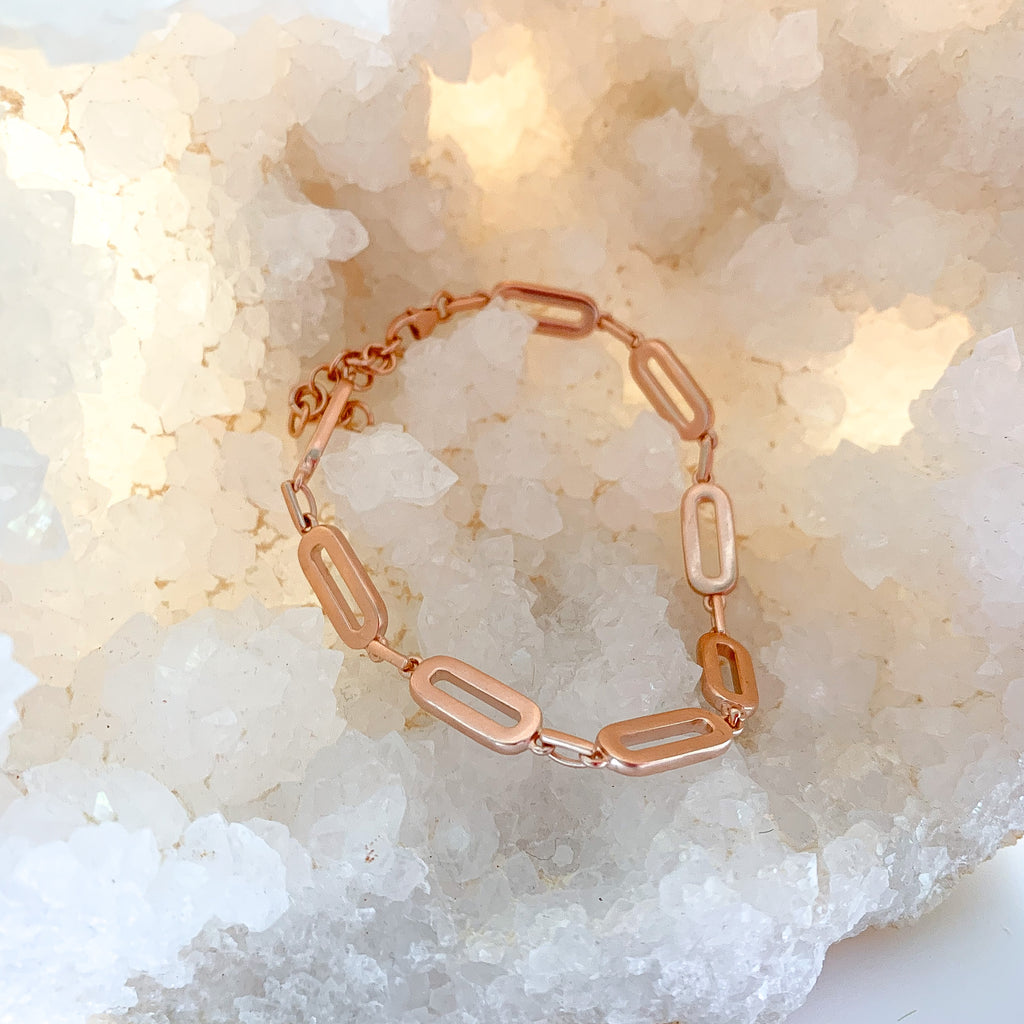 Chain Link Bracelet Rose Gold