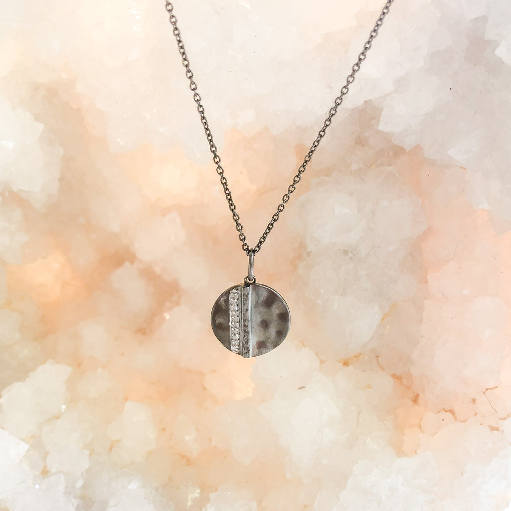 Harmony Signa Diamond Necklace Oxidized
