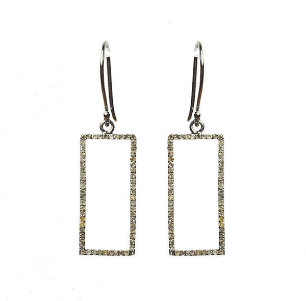 Idolized Rectangle Earrings Sterling Silver