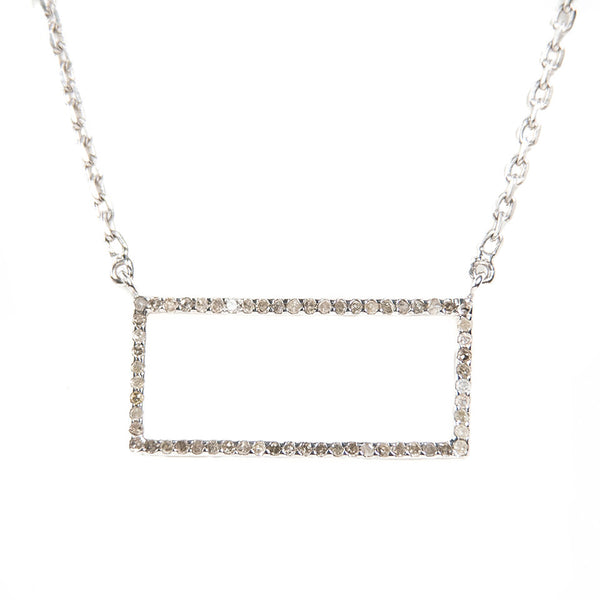 Idolized Rectangle Necklace Sterling Silver