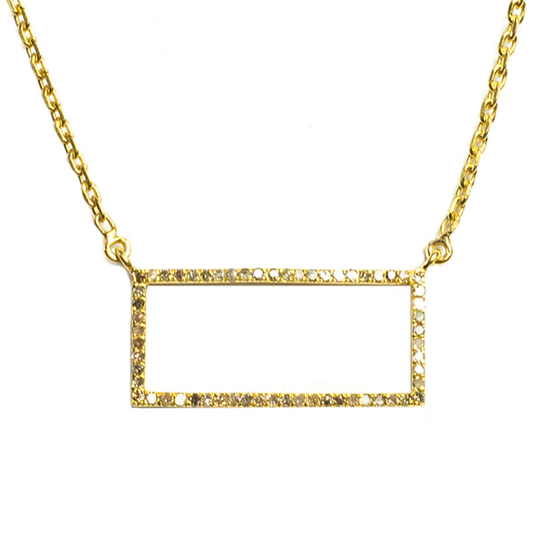 Idolized Rectangle Necklace Gold