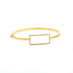 Yellow Gold Plated Idolized Bracelet with Brown Diamonds
