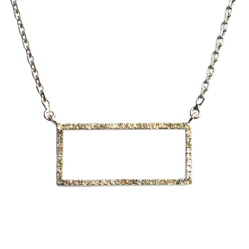 Idolized Large Rectangle Necklace Oxidized - Shoshanna Lee