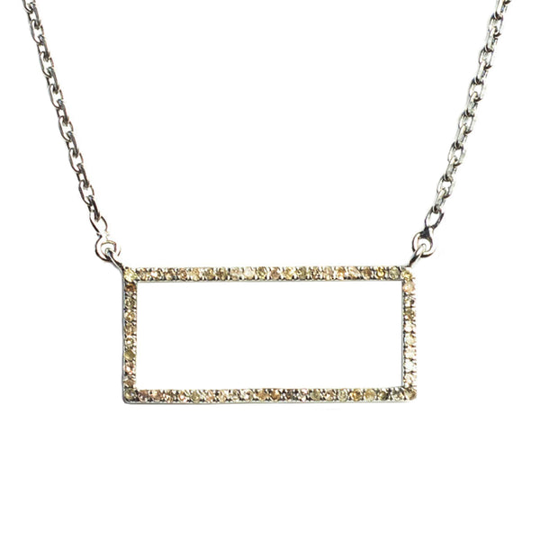 Idolized Rectangle Necklace Oxidized