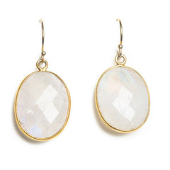 Pendant Moonstone Earring