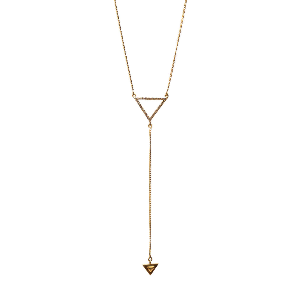 Renee Y Necklace Gold - Shoshanna Lee