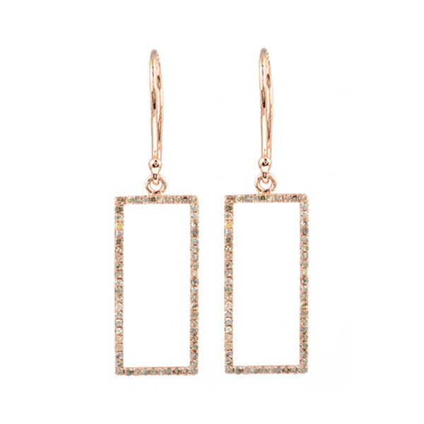 Idolized Rectangle Earrings Rose Gold