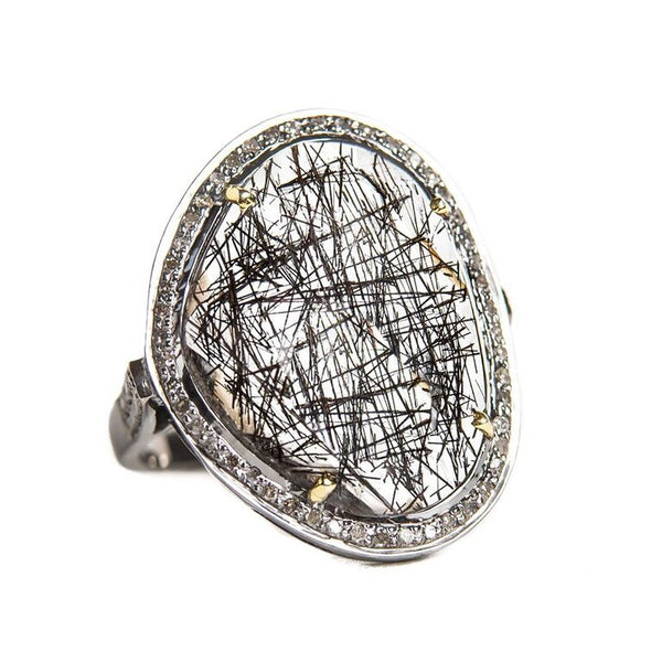 Diamond Rutile Ring
