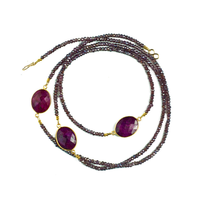 Lily Necklace Mystic Garnet & Ruby - Shoshanna Lee