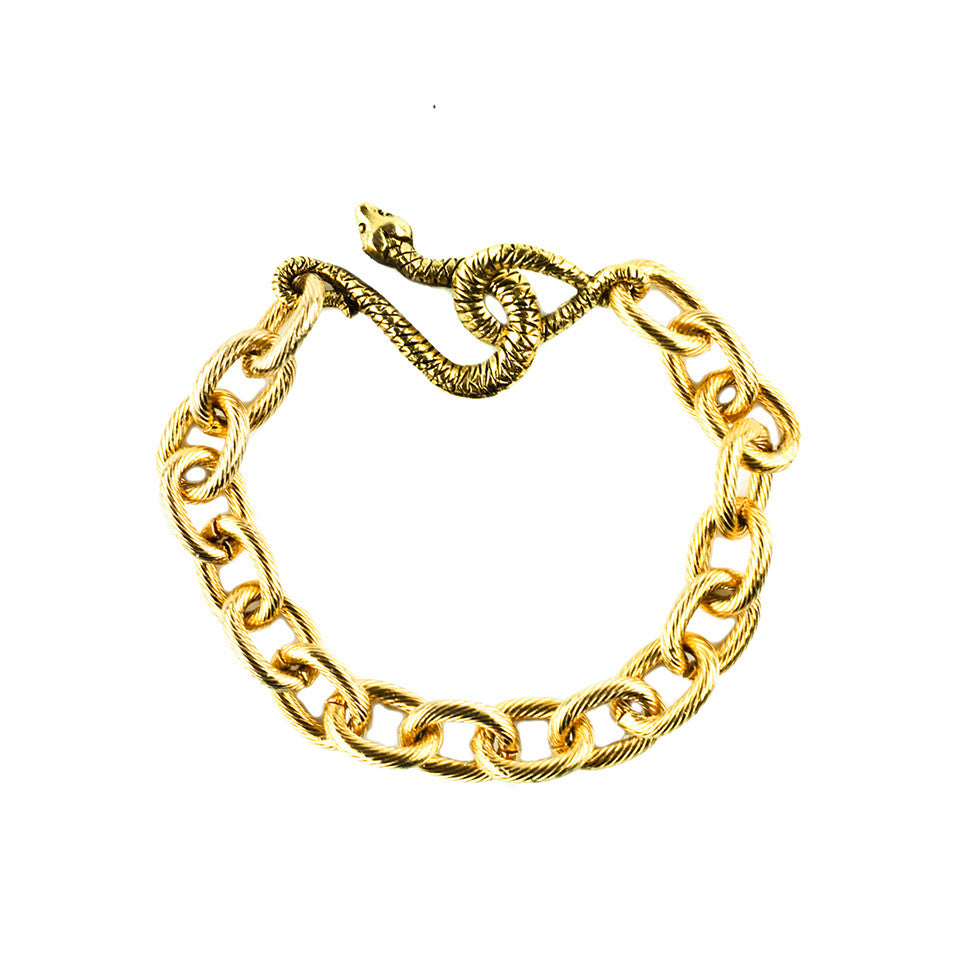 Snake Bracelet Gold Plated - Shoshanna Lee