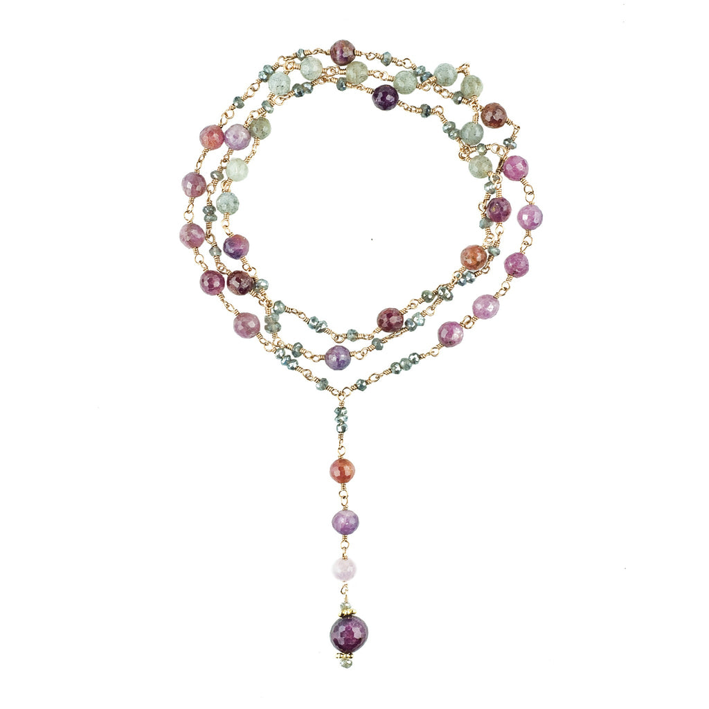 Rachelle Ruby Drop Necklace - Shoshanna Lee