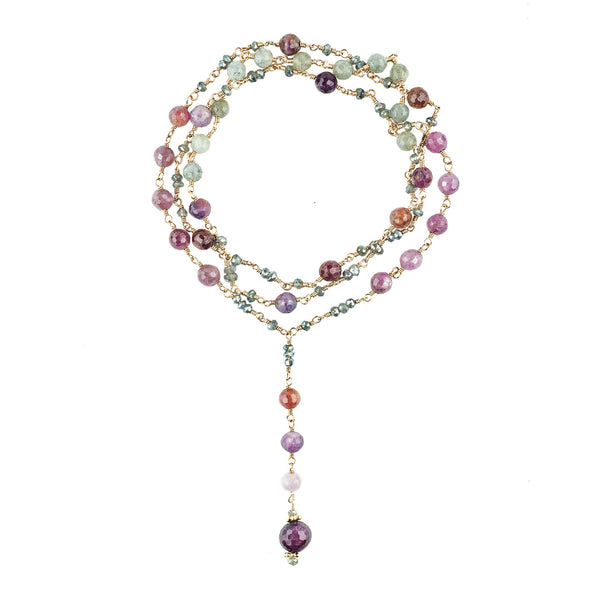Rachelle Ruby Drop Necklace