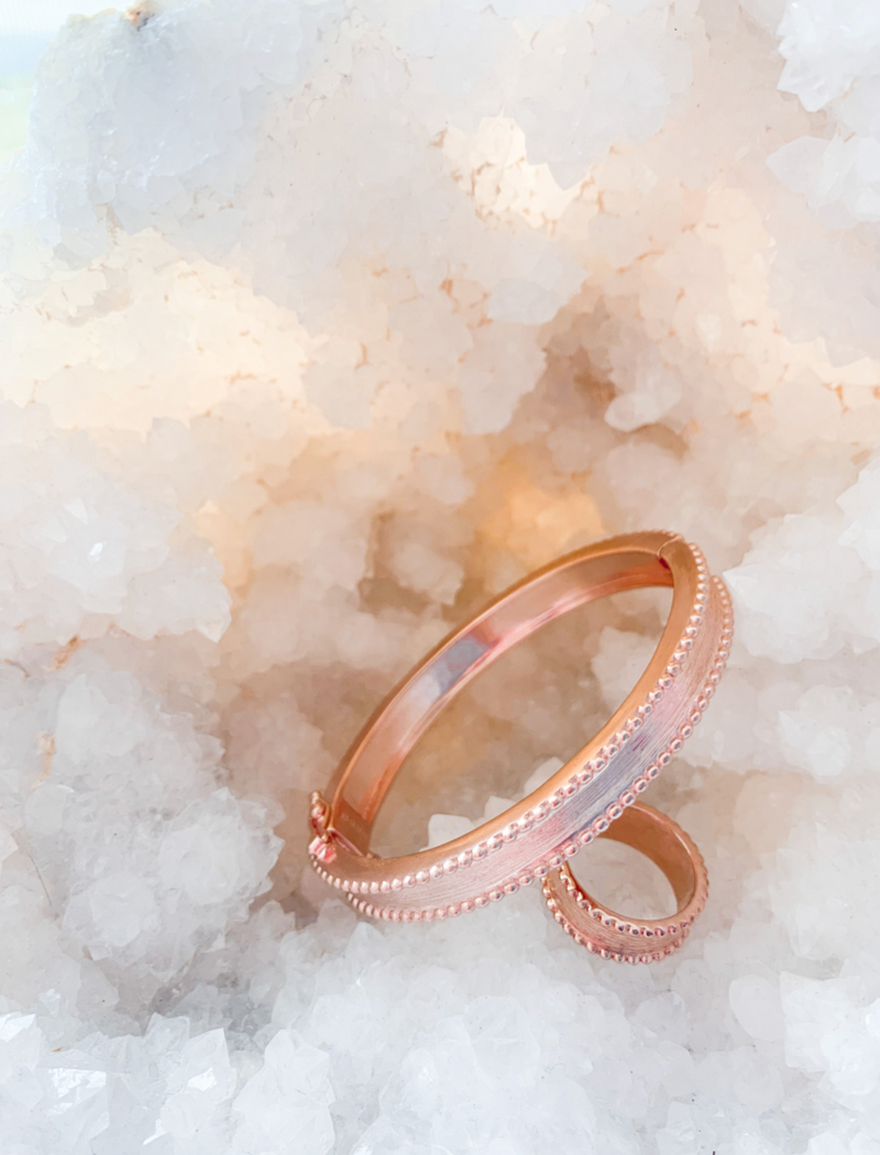 Brass Bangle Rose Gold
