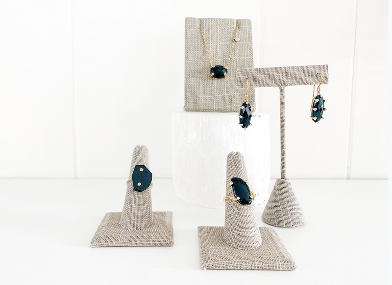 Santa Monica Black Onyx Gold Earrings with Diamonds