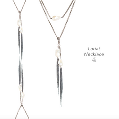 Lariat Necklace Yellow Gold