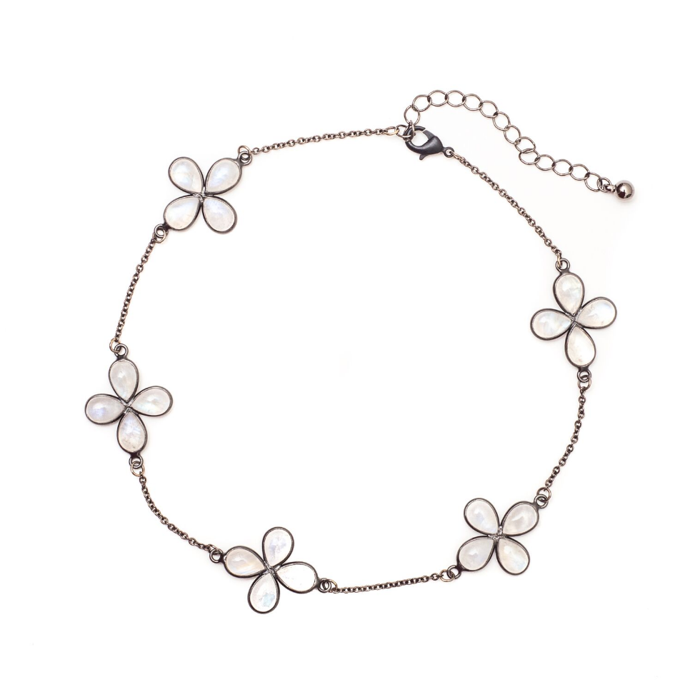 "Chloe Moonstone Choker Necklace 16"" - Shoshanna Lee"