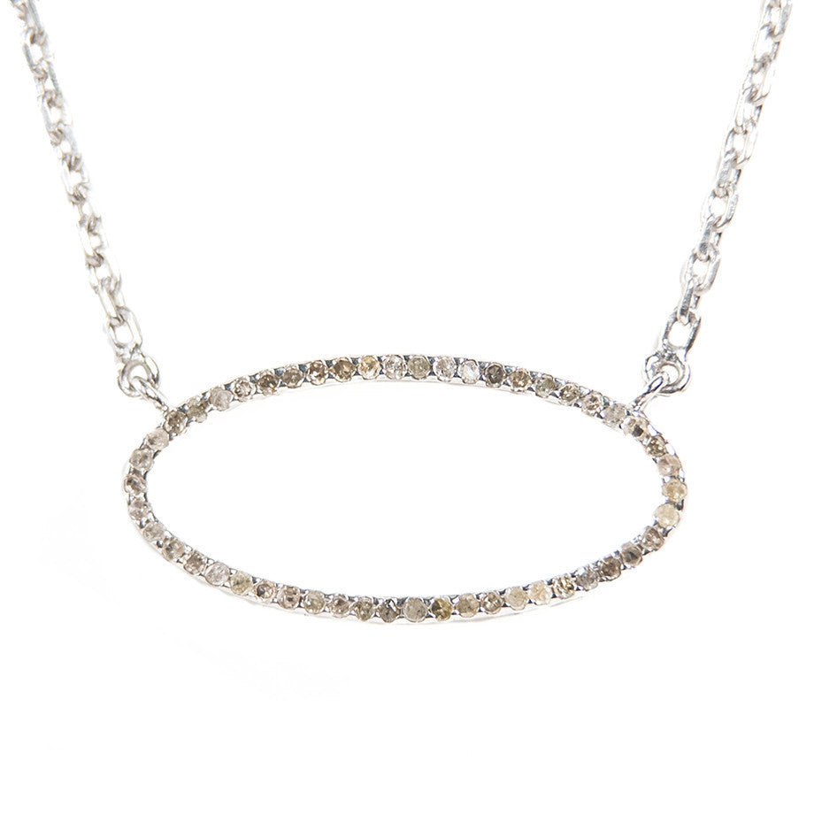 Beloved Large Oval Necklace Sterling Silver - Shoshanna Lee