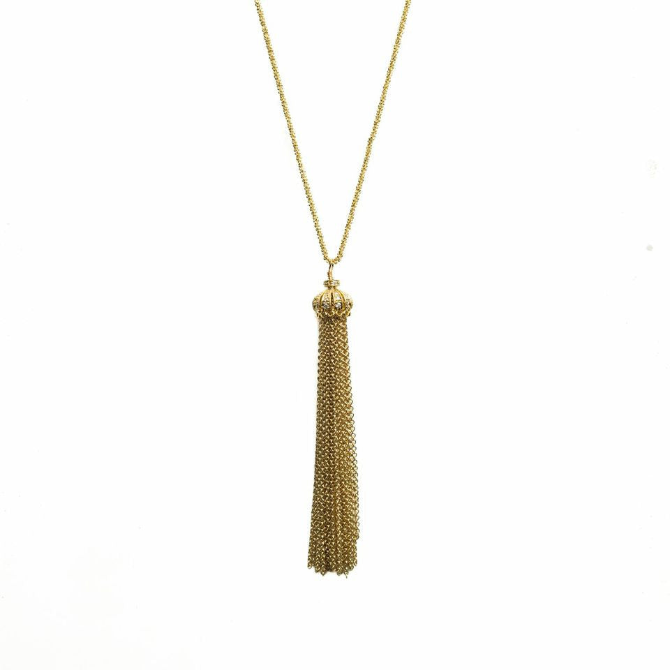 Carlee Tassel Necklace Gold - Shoshanna Lee