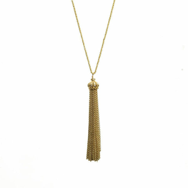 Carlee Tassel Necklace Gold