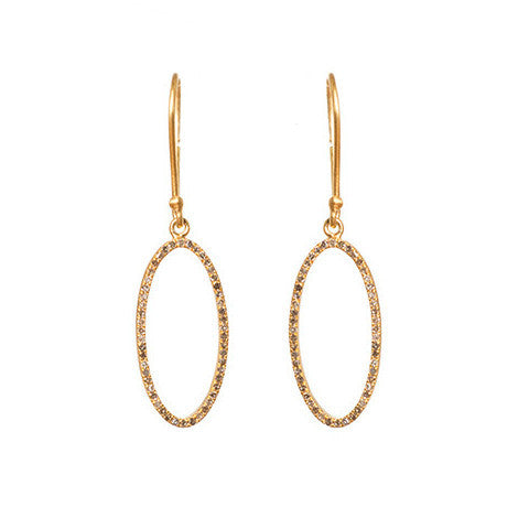 Beloved Oval Earrings Yellow Gold - Shoshanna Lee