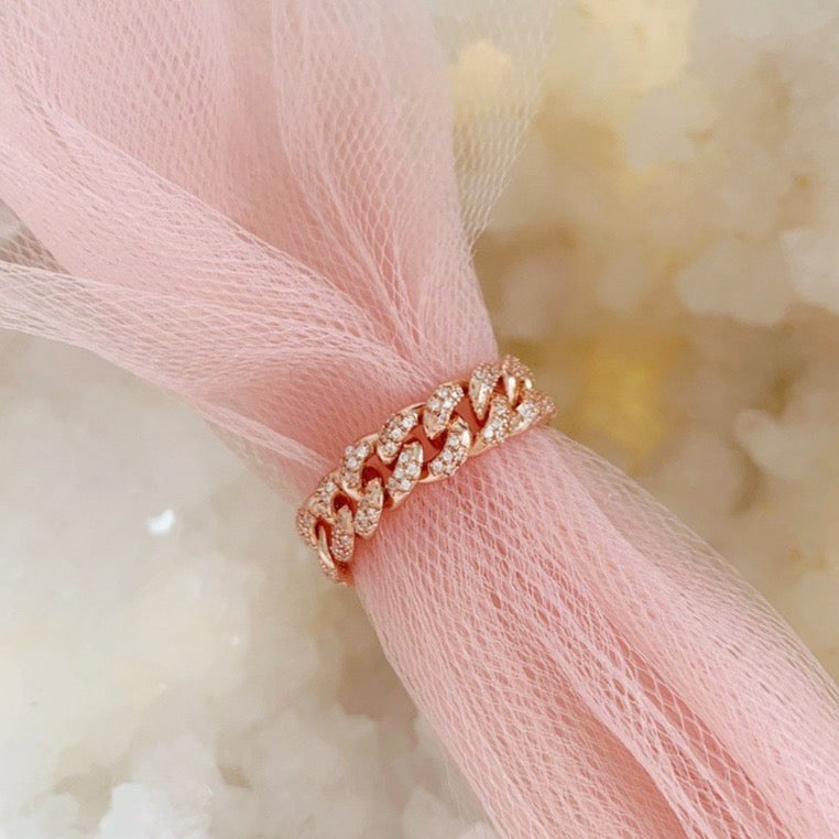 Curb Chain Diamond Ring