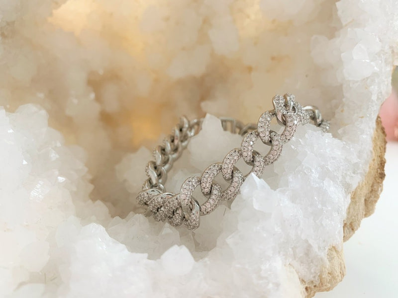 Curb Chain Diamond Bracelet
