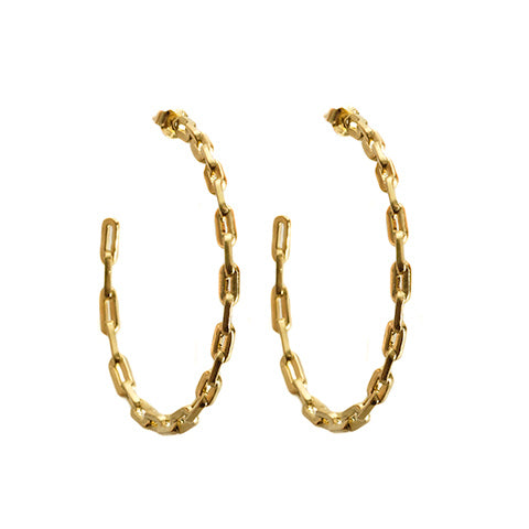 Chain Link Earrings Gold