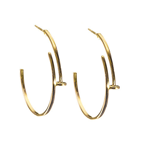 Nail Earrings Gold