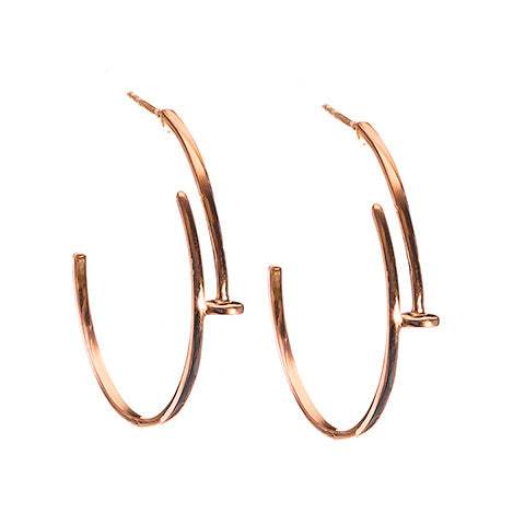 Nail Earrings Rose Gold